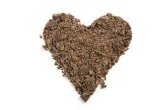 czekoladowy serce Zdjęcia Stock