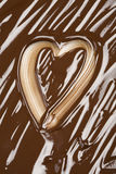 czekoladowy serce Obrazy Stock