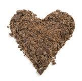 czekoladowy serce Obraz Royalty Free