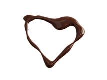 czekoladowy serce obraz stock