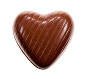 czekoladowy serce kształtował Zdjęcia Royalty Free