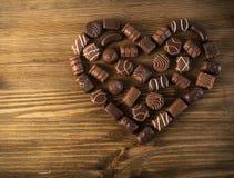 Czekoladowy serce Robić cukierki obraz stock