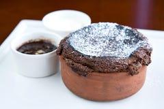 czekoladowy souffle obrazy royalty free
