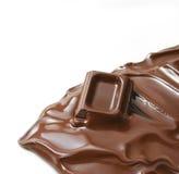 czekoladowy stapianie fotografia stock