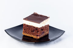 Czekoladowy sześcianu tort Fotografia Stock