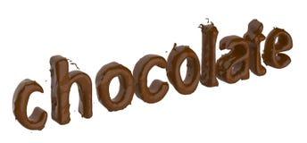 Czekoladowy tekst robić czekolada royalty ilustracja