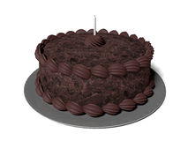 Czekoladowy tort ilustracja wektor