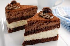 Czekoladowy tort Zdjęcia Royalty Free