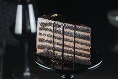Czekoladowy tort Obraz Royalty Free