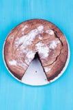 Czekoladowy tort obrazy royalty free