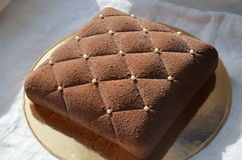 Czekoladowy tort Zdjęcie Royalty Free