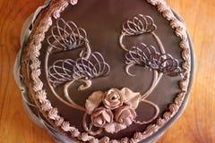 Czekoladowy tort Ciasto dekoracje słodkie ciasto obrazy royalty free