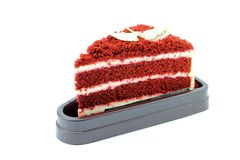 Czekoladowy tort i biały kumberland Zdjęcia Royalty Free
