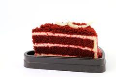 Czekoladowy tort i biały kumberland Obrazy Royalty Free