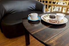 Czekoladowy tort i lody obrazy royalty free