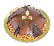 Czekoladowy tort odizolowywający zdjęcie stock