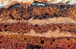 Czekoladowy tort plasterek Zdjęcia Royalty Free