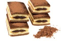 Czekoladowy tort z cacao i czekoladą Zdjęcia Royalty Free