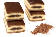 Czekoladowy tort z cacao i czekoladą Zdjęcie Royalty Free