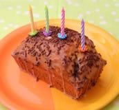Czekoladowy tort z glazerunkiem na talerzu Obraz Stock