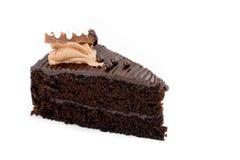 Czekoladowy tort z mousse na wierzchołku Obraz Stock