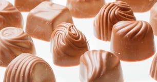 Czekoladowych cukierków zamknięty up Fotografia Royalty Free