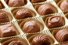 Czekoladowych cukierków zamknięty up Zdjęcie Royalty Free