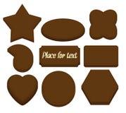 czekoladowych kształtów astronautyczny tekst Fotografia Royalty Free