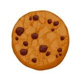 Czekoladowych układów scalonych ciastka wektoru ilustracja Fotografia Royalty Free