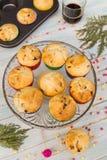 Czekoladowych układów scalonych kawa i muffins Obraz Royalty Free