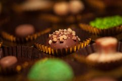 czekolady Asortyment świetne zmroku, brown i białych czekolady, Fotografia Royalty Free