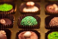 czekolady Asortyment świetne zmroku, brown i białych czekolady, Zdjęcie Stock