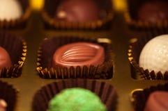 czekolady Asortyment świetne zmroku, brown i białych czekolady, Fotografia Stock