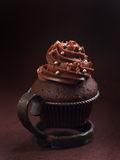 Czekolady i kawy espresso babeczki Fotografia Stock