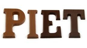 czekolady listowy piet słowo Obrazy Stock