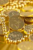 czekolady moneta Zdjęcia Royalty Free