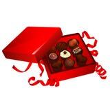 Czekolady pudełko Zdjęcia Royalty Free