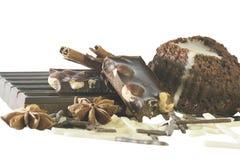 Czekolady, tort i pikantność, Fotografia Stock