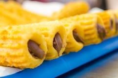 czekolady wypełniający churros zdjęcie stock