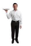 czeladny kelner obrazy royalty free