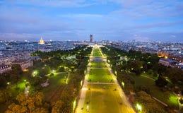 czempiony De Eiffel mącą noc wierza Obraz Royalty Free
