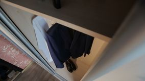 Czerń butów stojak na podłoga zbiory
