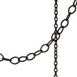 Czerń łańcuchy Zdjęcie Stock