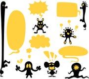 czerń bąbli potworów rozmowa royalty ilustracja