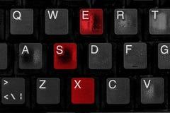 Czerń będąca ubranym komputerowa klawiatura Obrazy Royalty Free