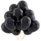 Czerń balonów wszystkiego najlepszego z okazji urodzin przyjęcia dekoraci zmrok glansowany Fotografia Stock