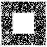 Czerń - bielu języka arabskiego lub celta rabatowy styl w postaci ramy Zdjęcie Royalty Free