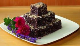 czerń bobowy tort obrazy royalty free