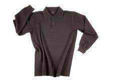 czerń długi polo koszula rękaw Zdjęcie Stock
