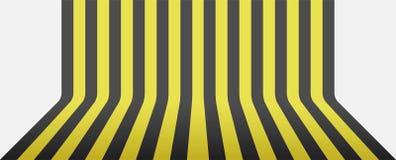Czerń i żółty lampasa tło Obrazy Royalty Free